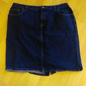 Ralph Lauren jean skirt size 18